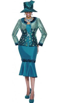Teal Church Suit 3416 By Susanna