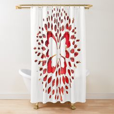 Gold Shower Curtain, Butterfly Shower Curtain, Shower Curtains, Red Curtains, Honeycomb, Art Prints, Printed, Awesome, Products