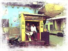 Title  Chilling In Shop Cum Clubhouse 2in1 Blue City India Rajasthan   Artist  Sue Jacobi   Medium  Photograph - Fine Art Photography - Digital Art