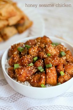 We Love This Honey Sesame Chicken Recipe. It Is Perfect For Dinner And Makes The Most Tender, Flavorful Chicken. We Love Serving It With Rice Or Noodles Because It's A Chicken The Whole Family Loves. Honey Sesame Chicken, Lemon Chicken, Mochiko Chicken, Chicken Flavors, Chicken Recipes, Recipe Chicken, Turkey Recipes, Bacon Wrapped Chicken Bites, Chicken Teriyaki Recipe