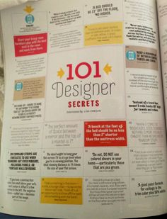 alamode: House Beautiful- 101 Designer Secrets