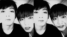 Jungkook and V gif not mine  source : armyfanclub.tumblr.com