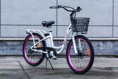 The New 2015 Big Cat ® Long Beach Cruiser  Electric Bike | 20Mph | 15-30mile Range | 36V16Ah Lithium Ion Battery |   http://www.bigcatbikes.com
