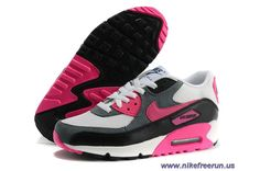 New Nike Air Max 90 Essential White Pink Foil Black Dark Armry Black Womens  Shoes Nike 417a62d123f8