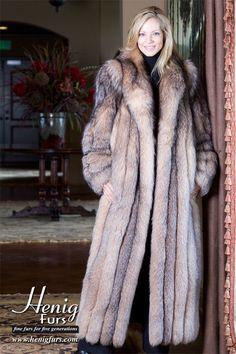 long crystal fox fur coat