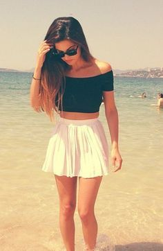 summer outfits: love that skirt