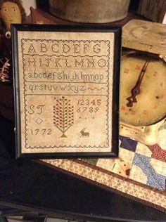 Primitive Early Style 1772 Sampler Repro | eBay