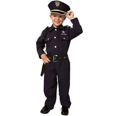 Dress Up America Toddler Deluxe Police Officer Costume Set T4 Navy