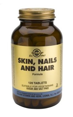 Skin, Nails & Hair, Advanced MSM Formula, 120 Tablets by Solgar. $17.59. Skin, Nails & Hair Tablets Skin, Nails & Hair Tablets is one of Solgars premium-quality skin, hair and  nails products.* *This statement has not been evaluated by the Food and Drug Administration. This product is not intended to diagnose, treat, cure or prevent any disease.
