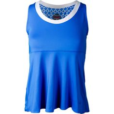 The Bolle Women's Kaleidoscope Tennis Tank in Teal is sure to flatter your body with its flared hemline. Feel comfortable and free without losing support in this beautiful top! The scoop neckline is highlighted with White contrast trim to make this tank really pop! Bolle logo on hem above left hip.