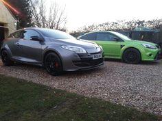 Renault megane 250 & focus rs. Enemies! !