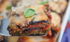 Aubergine and courgette Parmesan bake - Diabetes UK Celery Recipes, Uk Recipes, Diabetic Recipes, Veggie Recipes, Low Carb Recipes, Cooking Recipes, Healthy Recipes, Recipies, Goji Berry Recipes