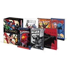 This DC Comics Collection is a one-of-a-kind combo pack which includes 6 graphic novels and 6 original movies is packaged together in a exclusive slipcase. Dc Comics Collection, Novel Movies, Blu Ray Movies, Dvd Set, Batman And Superman, Original Movie, Halloween Costumes For Kids, Justice League, Movies And Tv Shows