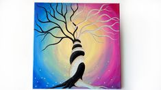 #etsy shop: Acrylic painting, Yin Yang Painting http://etsy.me/2CtL4GJ #art #painting #birthday #purple #black #valentinesday #50x50cmcanvas #acrylicpainting #yinyangpainting