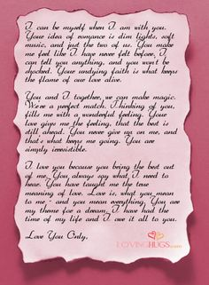 The Sweetest Love Letter  Him