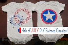 How Sweet this is!: of July DIY Painted Shirts! Puffy Paint Shirts, Captain America Costume, Easy Crafts To Sell, Create And Craft, Diy Shirt, Silhouette Design, Halloween Diy, Diy Painting, Fourth Of July