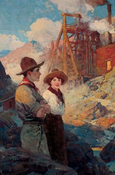 """Frank Tenney Johnson, """"The Old Mine"""" c.1924 – The Lucas Museum of Narrative Art"""