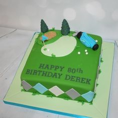 I make personalised birthday cakes for adults and kids to order. Some of my latest birthday cakes, inc. Golf Themed Cakes, Golf Birthday Cakes, Happy 80th Birthday, 40th Birthday Parties, Golf Cakes, Latest Birthday Cake, Ghostbusters Cake, Cake Makers, Cool Themes