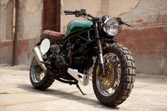 Nutty Ducatti Monster dirt tracker. Like that video of the Triumph Speed Triple off road.