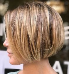 Very Short Textured Bob Hairstyle Very Short Bob Hairstyles, Haircuts For Fine Hair, Short Bob Haircuts, Textured Bob Hairstyles, Short Bob Cuts, Bob Haircuts For Women, Short Length Hairstyles, Bobbed Haircuts, Medium Haircuts