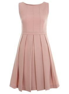 Gorgeous nude dress to go with my black suede platform courts and black opaque tights, classic