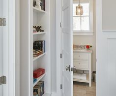 Hallway built-ins provide always-needed extra storage.