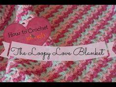 How to Crochet: The Loopy Love Blanket ✿Teresa Restegui http://www.pinterest.com/teretegui/✿