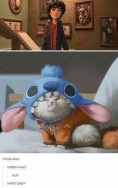 Oh yes stich djdhvdjshdhd big hero 6 Disney Pixar, Film Disney, Disney Facts, Cute Disney, Disney And Dreamworks, Disney Magic, Funny Disney, The Big Hero, Hiro Big Hero 6