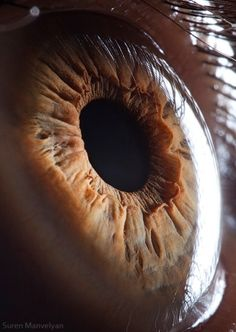 """""""Your beautiful eyes"""" is the latest, popular series of close ups of a human eye by photographer Suren Manvelyan."""