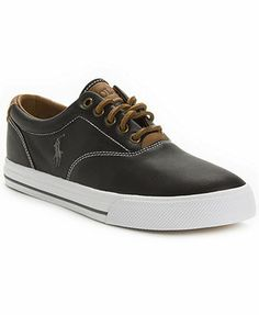 Polo Ralph Lauren Vaughn Leather Sneakers Best Casual Shoes bb7fda1d57