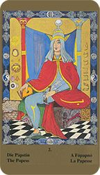 Popess from the Kazanlar Tarot at TarotAdvice Ancient Mysteries, Tarot Reading, Tarot Decks, Tarot Cards, Disney Characters, Fictional Characters, Mystery, Aurora Sleeping Beauty, Art Gallery