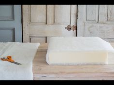 how to make a custom chair (or sofa) cushion | miss mustard seed - YouTube