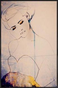 Abstractions Aside - Leigh Viner - Poster im Kunststoffrahmen