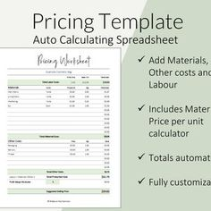 Pricing Calculator shop management Tool Etsy Sellers handmade | Etsy Etsy Business, Online Business, Business Ideas, Budget Binder, Budget Planner, Advertising Methods, Cost Of Goods Sold, Business Planner, Blog Planner
