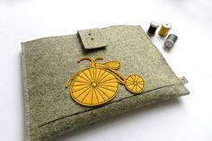 iPad, Tablet Case cover with yellow bicycle
