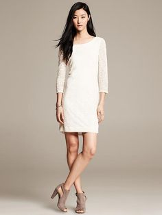 Heritage White Lace Shift Product Image