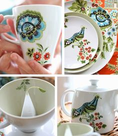 Amy Butler dinnerware. :-) did not knew that design until now ;-)