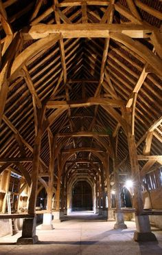 This would make a gorgeous ceiling for a house.  Transform a barn into a house!  :)
