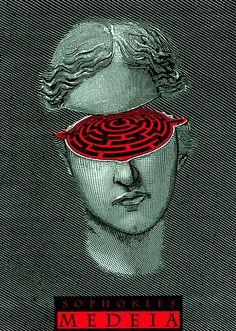 Sophokles Medeia, Theater poster by István Orosz