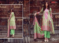 a4c1453b55 ... #Fashion #Pakistani #Designer #Suits #Haute #Couture for #work / #Party  and #Casual wear- #Libaas #by #Shariq #textiles #Embroidered #lawn # collection
