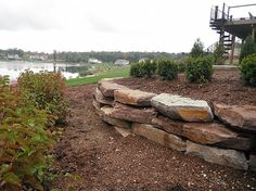 pictures of boulder retaining walls  | ... limestone retaining wall in milford michigan milford boulder wall