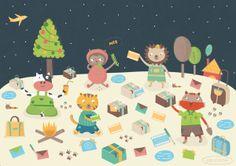 merry christmas to you! by Patricia Codina, via Behance