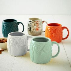 Coffee mugs from West Elm.