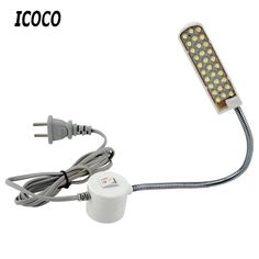 ICOCO Portable Sewing Machine Light LED Light Magnetic Mounting Base Gooseneck Lamp for All Sewing Machine Lighting Industrial Lighting, Outdoor Lighting, Digital Table Clock, Lamp Light, Light Led, Money Saving Box, Savings Box, Stainless Steel Lunch Box, Sewing Machine Accessories