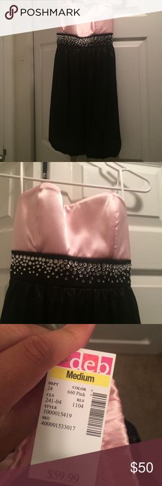 NWT strapless dress Never worn, tags still attached Deb Dresses Strapless