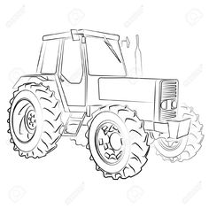 Kleurplaat Frm Step By Step How To Draw A Tractor Drawing Library