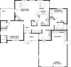 - 7752LD | 1st Floor Master Suite, Butler Walk-in Pantry, CAD Available, Northwest, PDF, Ranch, Split Bedrooms | Architectural Designs