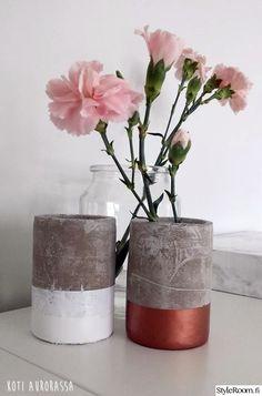 betoni,tuunaus,maljakko,Tee itse - DIY,neilijja