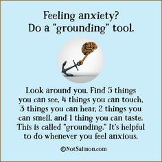 Grounding tool for anxiety
