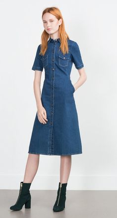 Zara denim dress ($60)